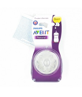 PHILIPS AVENT Natural 1孔奶咀 -  2個裝 (0m+)