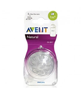 PHILIPS AVENT Natural 2孔奶咀 -  2個裝 (1m+)