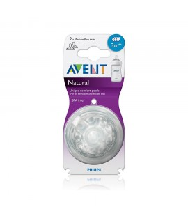 PHILIPS AVENT Natural 3孔奶咀 -  2個裝 (3m+)