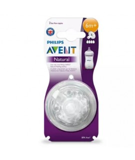 PHILIPS AVENT Natural 4孔奶咀 -  2個裝 (6m+)