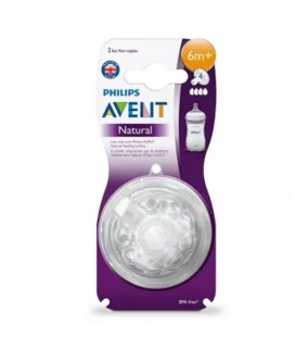 PHILIP AVENT Natural 6MONTHS+ NIPPLES X 2PCS
