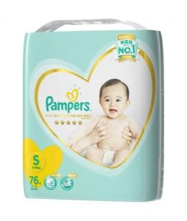 PAMPERS 5星吸水棉柔 紙尿片 S 細碼76片 增量裝 (4-8kg)