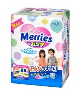MERRIES 學習紙尿褲 BIG L(XXL) 加加大碼26片(15-28kg)