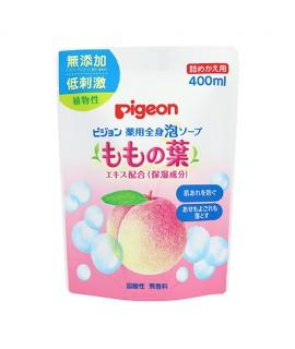 PIGEON 桃葉保濕泡沫沐浴露 補充裝 400ml