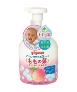 PIGEON 桃葉保濕泡沫沐浴露 450ml