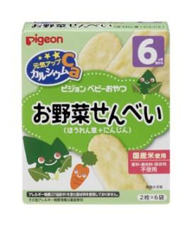 PIGEON 嬰兒高鈣米餅 (菠菜+胡蘿蔔)
