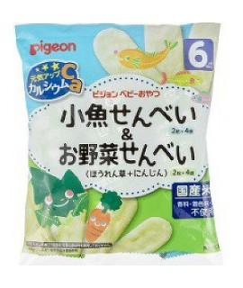 PIGEON 嬰兒高鈣米餅(魚餅+菠菜胡蘿蔔餅)