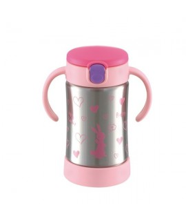 RICHELL 保溫保冷飲管杯 270ml - 粉紅色