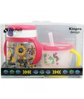 RICHELL KINPRO 吸管學習杯及水杯套裝