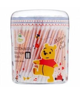 SANYO 小熊維尼 嬰兒專用棉花棒180支 (波波頭+長直頭)