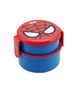 SKATER 蜘蛛俠雙層食物盒(附叉) 230+270ml
