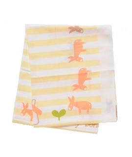 THINK B 全綿雙面(綿/紗)浴巾 - 驢仔 100 x 100cm