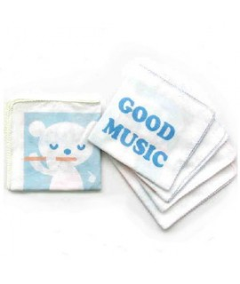 THINK B 全綿紗巾5條 - GOOD MUSIC 32 x 32cm