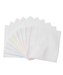 THINK B 方型全綿白紗巾10片裝