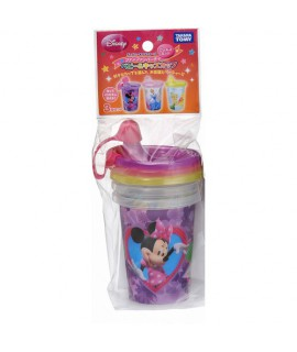 TAKARA Disney 小童鴨咀水杯3隻(米妮、公主、小仙女)連蓋 296ml