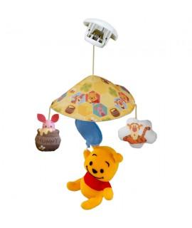 TAKARA 小熊維尼嬰兒車吊飾玩具