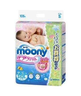 [JUMBO] MOONY 小熊維尼紙尿片 S 細碼105片 (4-8kg)