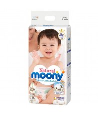 MOONY NATURAL有機棉 紙尿片 L 大碼40片 (9-14KG)