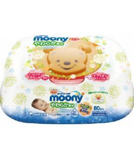 MOONY 小熊維尼 嬰兒柔潤濕紙巾 80片(盒裝)