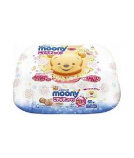 MOONY 小熊維尼 加厚、重水份嬰兒濕紙巾60片(盒裝)