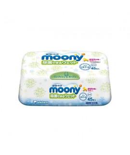 MOONY 無酒精除菌手、口專用濕紙巾 45片(盒裝)