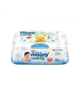 MOONY小熊維尼 如廁用嬰兒濕紙巾 50片(盒裝)