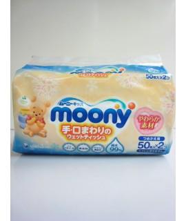 MOONY 小熊維尼 口、手濕紙巾補充裝 50s X 2包