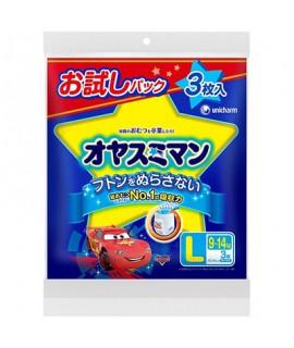 UNICHARM 反斗車王 夜用紙尿褲 大碼 男仔3片(13-25kg)