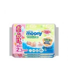 MOONY 嬰兒柔潤濕紙巾(便攜裝) 30s x 2包