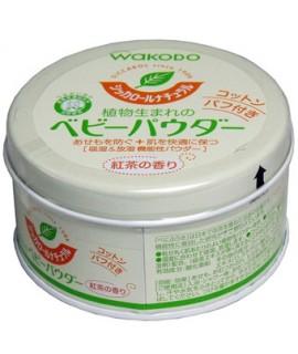 WAKODO 和光堂 嬰兒植物性爽身粉罐裝 - 紅茶香(附有粉撲) 120g