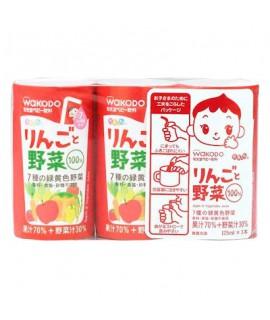 WAKODO 和光堂 嬰兒蘋果野菜汁 125ml x 3支   #KK8