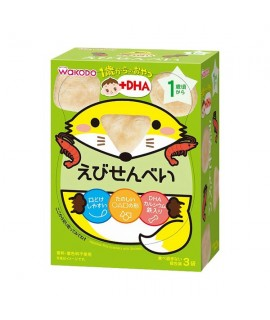 WAKODO 和光堂 +DHA 蝦味米餅 3袋 #IO1