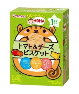 WAKODO 和光堂 +DHA 蕃茄芝士餅 3袋 #IO3