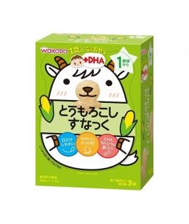 WAKODO 和光堂 +DHA 香甜粟米米果 3袋 #IO8