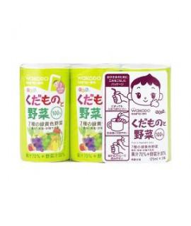 WAKODO 和光堂 嬰兒雜果雜菜汁 125ml x 3支   #KK9