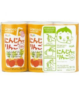 WAKODO 和光堂 嬰兒蘋果紅蘿蔔汁 125ml x 3支    #KK10