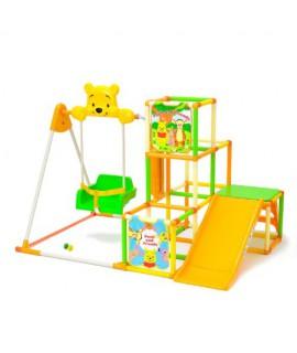 WORLD 小熊維尼-滑梯+盪鞦韆+攀爬架組合